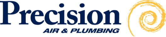 Prceision Air & Plumbing Logo - link to homepage
