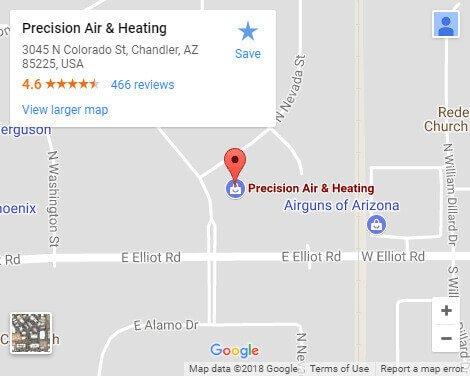 Google Map - Precision Air  & Plumbing