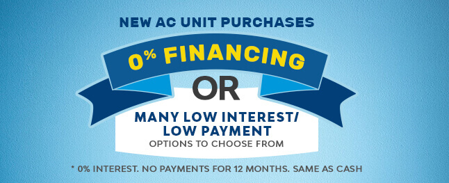 Financing for air conditioning units
