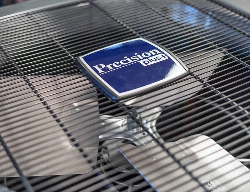 Precision | Precision logo on a ac unit