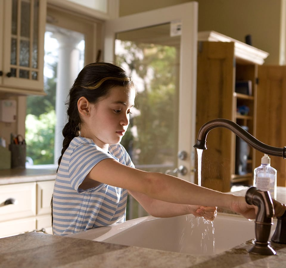 Precision | girl washing hands